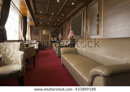 Interior of a cruise boat