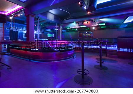 interior of a empty nightclub - stock photo