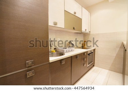Interior of a guest house kitchen