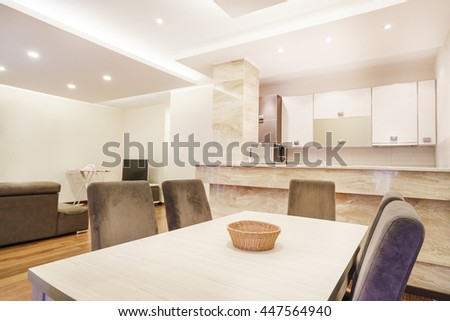 Interior of a guest house kitchen - stock photo