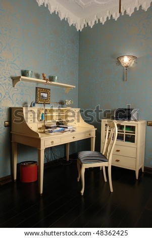 interior of a  Home Office Room - stock photo