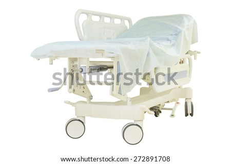 Interior of a hospital corridor - stock photo