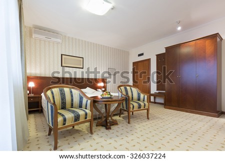 Interior of a hotel apartment