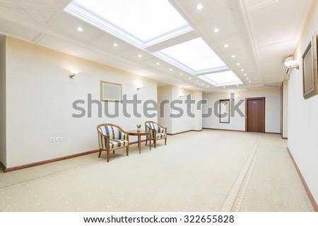 Interior of a hotel corridor  - stock photo