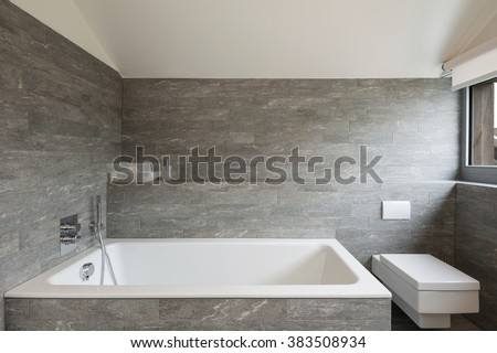 Interior of a house, bathroom modern design - stock photo
