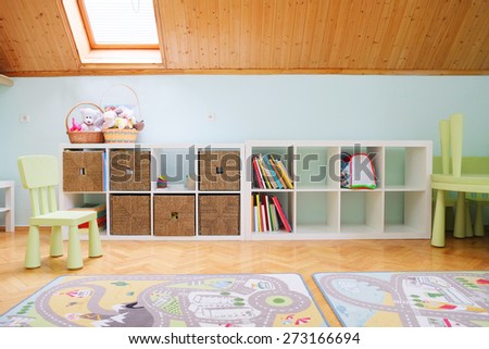 Interior of a kindergarten.  - stock photo