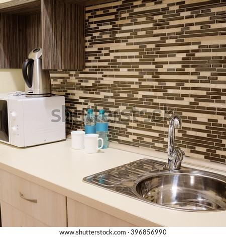 Interior of a little kitchen - stock photo