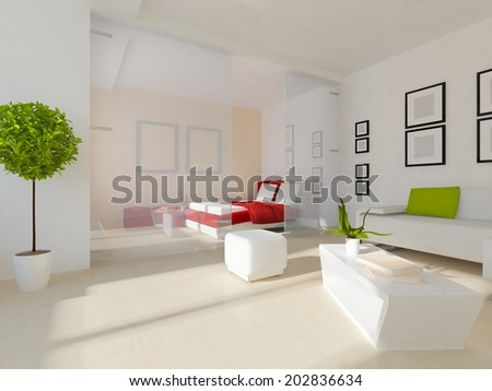 interior of a living-room