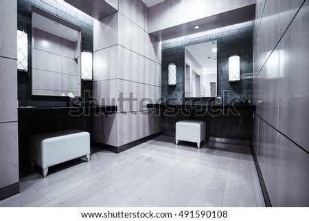 Interior of a locker/changing room