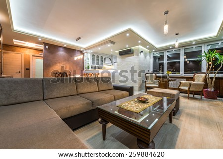 Interior of a luxury  - stock photo