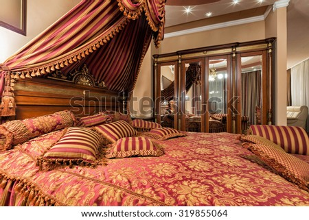 Interior of a luxury bedroom