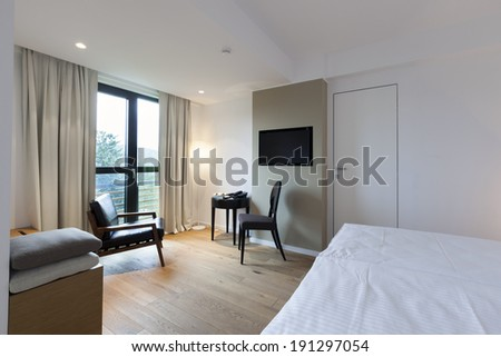 Interior of a luxury hotel room