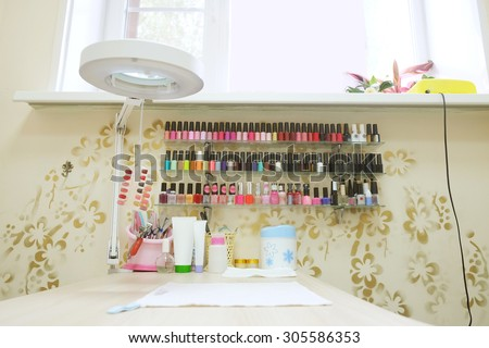 Interior of a manicure office