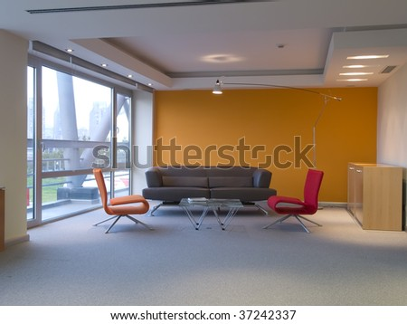 interior of a meeting room - stock photo