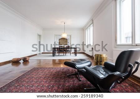 Interior of a modern apartment - stock photo