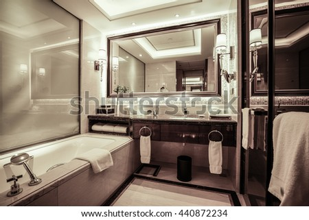 Interior of a modern bathroom.