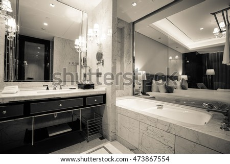 Interior of a modern bathroom