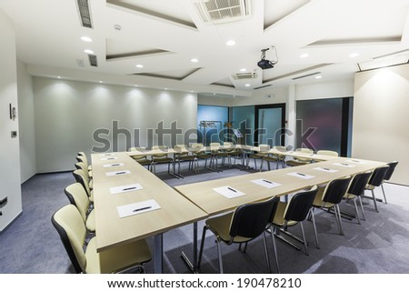 Interior of a modern conference room  - stock photo