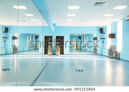 Interior of a modern dancing hall