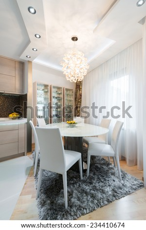 Interior of a modern dining room - stock photo