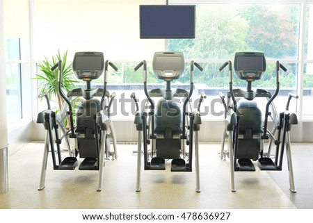 Interior of a modern fitness hall