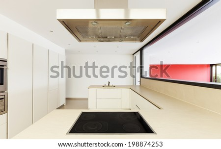 interior of a modern house, domestic kitchen
