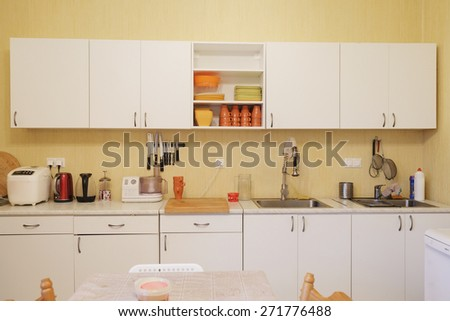 Interior of a modern kitchen - stock photo