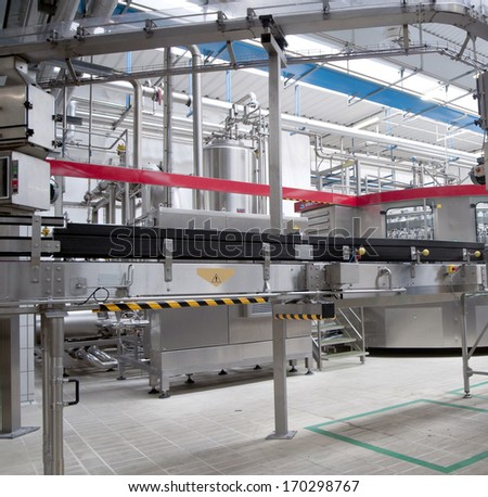interior of a modern manufacturing industry