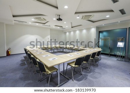 Interior of a modern meeting room - stock photo
