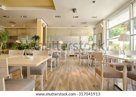 Interior of a modern restaurant