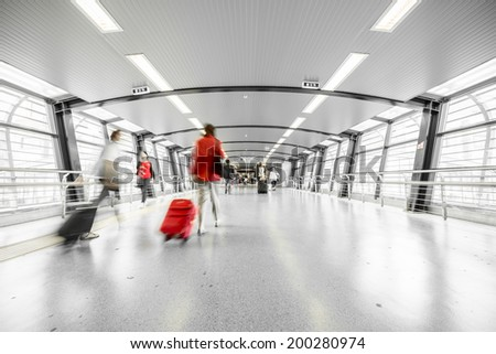 interior of a modern station - stock photo