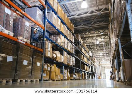 Amazing Interior Of A Modern Warehouse