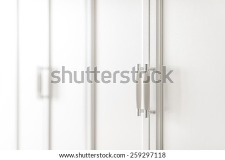 Interior of a new empty house with wardrobe, dressing room - stock photo