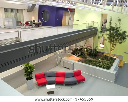 interior of a office building - stock photo