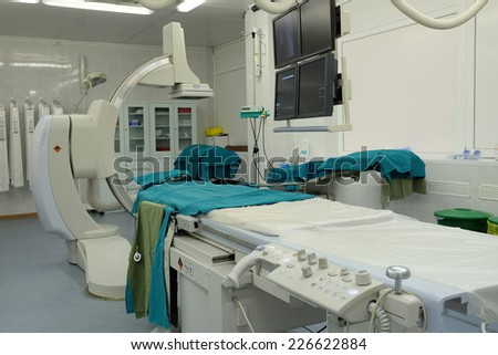 Interior of a operating room