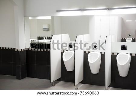 Interior of a public WC - stock photo