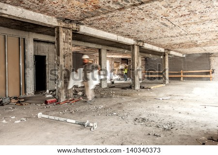 Interior of a repaired house, construction site
