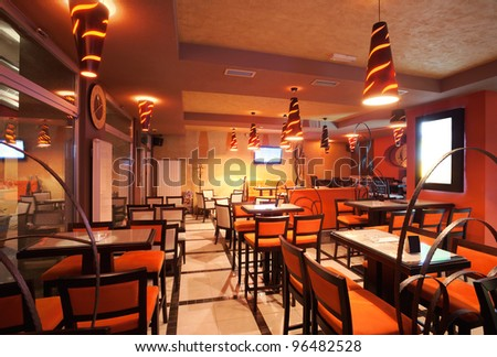 Pizzeria restaurant stock images royalty free images vectors shutterstock for Restaurant interior color schemes