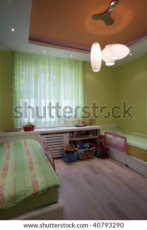 interior of a room for kids - stock photo