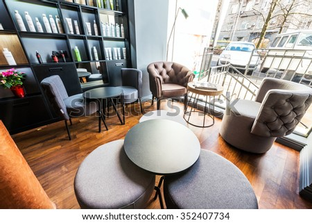 Interior of a room of rest in beauty salon - stock photo