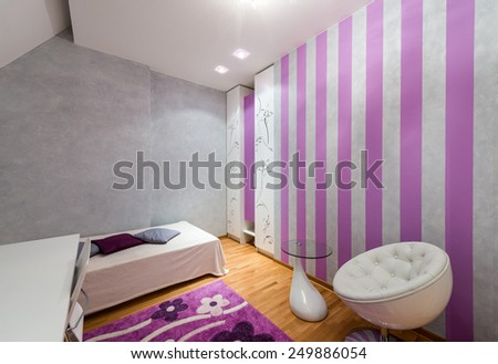 Interior of a teenage girl room  - stock photo