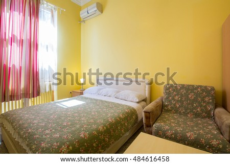 Interior of an apartment bedroom