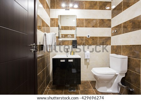 Interior of an elegant bathroom