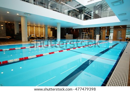 Interior of an empty swimming pool