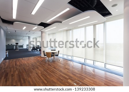Interior of an office in a printing company - stock photo