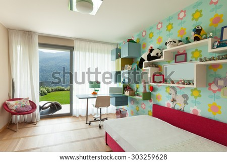 Kids Bedroom Wallpaper kids bedroom wallpaper stock images, royalty-free images & vectors
