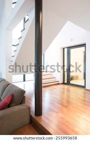 Interior of beautiful and modern property - stock photo