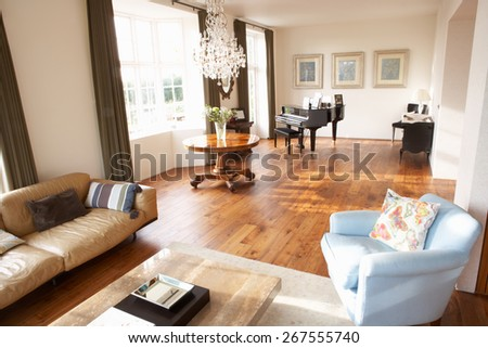 Interior Of Beautiful Contemporary Lounge - stock photo