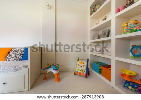 Interior of beauty room for little child