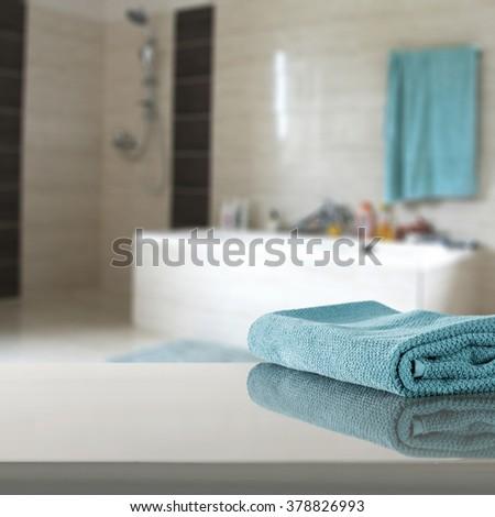 Interior Blurred Bathroom Background Home Decoration Stock Photo ...
